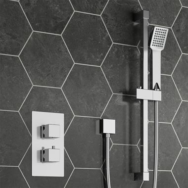 Harley Concealed Thermostatic Shower Valve & Slide Rail Kit